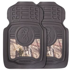 Browning Buckmark Mossy Oak Camo Floor Mats Pair Auto Truck Car Camouflage