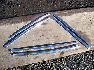 1968 Chrysler 300 2d Fast Top Rear Window Glass Trim Oem 4 Pcs
