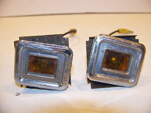 1968 Chrysler Imperial Amber Side Marker Cornering Lights Oem Lebaron Crown