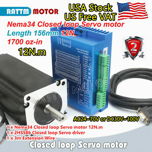 us Free nema 34 Cnc 12n m Closed Loop Stepper Motor Encoder Hybrid Servo Driver