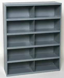 Metal 10 Hole Storage Bolt Bin Cabinet Compartment Nuts Bolts Fasteners Screws