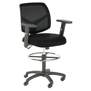 Scranton Co Mesh Back Drafting Chair With Foot Ring In Black