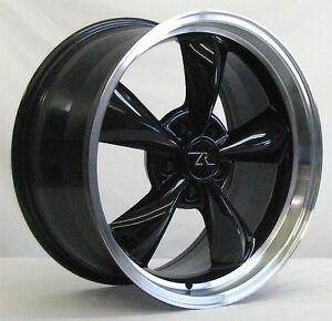 18 Black W Lip Deep Dish Mustang Bullitt Replica Wheels 18x9 5x114 3 Rims 94 04