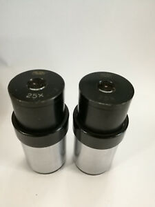 Eyepieces 25x Carl Zeiss Jena D 34mm Pair Of Eyepieces