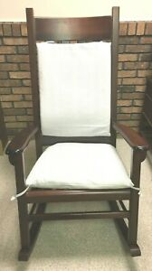 Wooden Rocking Chair With Foot Stool For Nursery