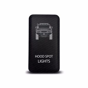 Ch4x4 Toyota Push Switch Fj Cruiser Hood Spot Lights Symbol Amber Led