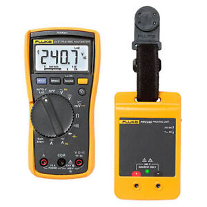 Fluke 117 prv240 Proving Unit Kit With 117 Dmm And Prv240 Proving Unit