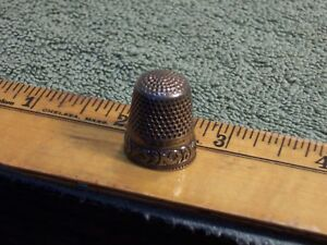 Stern Bros Sterling Thimble Size 8