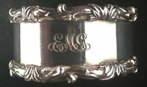 Tiffany Sterling Silver Napkin Ring Scalloped Border