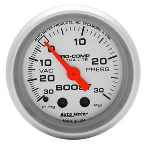 Autometer Ultra Lite 52mm 30psi Mechanical Boost Gauge