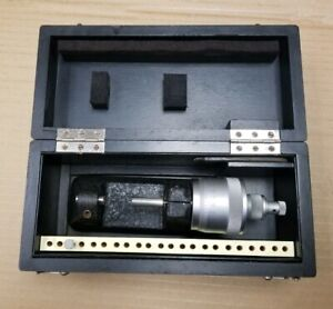 Carl Mahr Bench Micrometer With Box