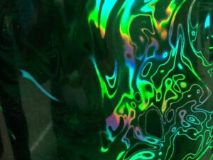 Hot Stamping Foil Kingsley Howard 4x6 x200ft 1 core holographic Green Lava