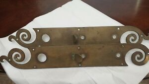 Antique Vintage Brass Door Backplates W Thumb Grip Architectural Hardware