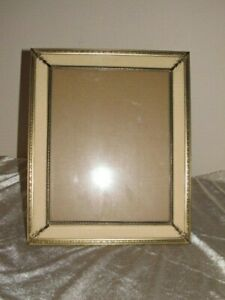 Vintage Picture Frame 8 X 10 Ornate Antique Brass Metal Frame With Cream Mat