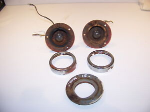 1951 Willys Wagon Front Turn Signal Housings Bezels Oem Yankee 975