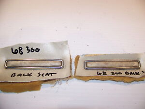 1968 Chrysler 300 Rear Seat Emblems Trim Oem Pair