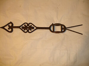 Antique Cast Iron Weathervane Lightning Rod Directional Arrow Roof Ornament Rare