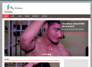 Fitness Video Blog Website With Amazon Affiliate Ecommerce Store Bonuses