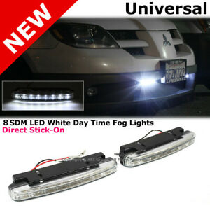 Clear Lens Universal Daytime Running Fog Lights Smd X8 Waterproof Bright Led