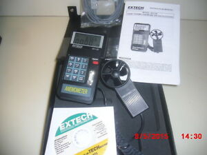 Extech Model 451126 Vane Thermo anemometer Datalogger Possible Free Shipping
