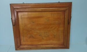 Victorian Wall Pocket Wood Newspaper Magazine Holder Aesthetic Movement Antique