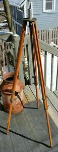 Antique Keuffel Esser Co Wood And Brass Surveying Transit Instrument Tripod