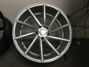 20 Staggerd Silver C Style Rims Wheels Fits Volkswagen Vw Gti Jetta Golf Cc