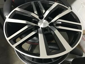 22 Prado Style Black Rims Wheels Fits Lexus Gx460 Gx470 6x139 7 Bolt Pattern