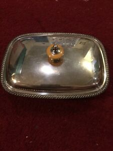 Silver Plate 7 1 2 Inch Covered Serving Dish With Sterling Mount