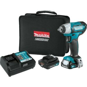 12v Cordless 3 8 Sw Drive Impact Wrench Kit Makwt02r1 Brand New