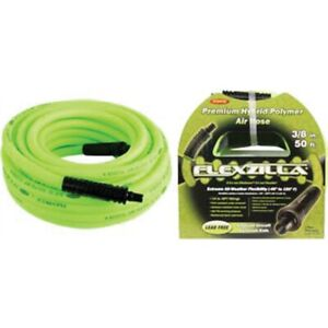 Flexzilla 3 8 X 50 Air Hose With 1 4 Mnpt Fittings Tmrti508 Brand New