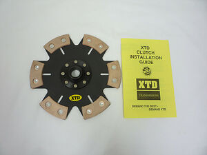 Xtd Stage 4 Racing Ceramic Solid Clutch Disc Fits Hyundai Mitsubishi