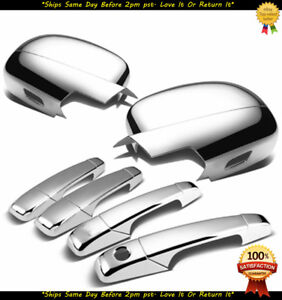 For 2007 2008 2009 2010 2011 2012 2013 Chevy Silverado Chrome Mirrors Handles
