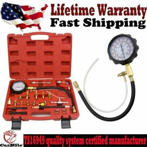 0 140psi Fuel Injection Pump Pressure Injector Tester Test Pressure Gauge Kit Us