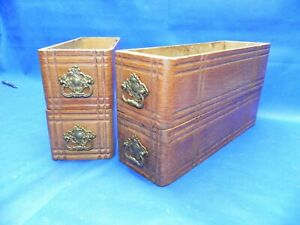 Antique Singer Treadle Sewing Machine Cabinet Drawer Set Of 4