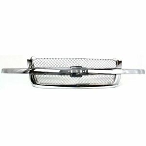 Grille Assembly For 2003 2006 Chevrolet Avalanche 1500 Chrome