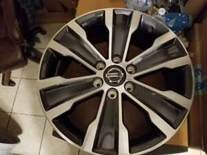 2017 2019 Nissan Armada 20 Factory Oem Wheel Rim Charcoal Machined 1 One Only