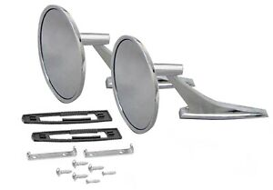 New Chrome Outside Rearview Mirror Set 1966 1967 1968 Chevelle Or El Camino