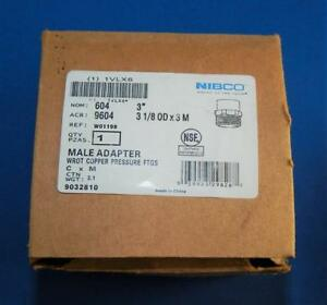 Nibco 3 Male Adapter Wrot Copper Pressure Ftgs new Other Ts1