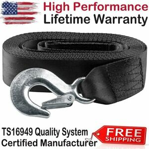 Top 2 X20ft Heavy Duty Winch Strap W Hook For Large Boat Trailer 10000lb Max Us