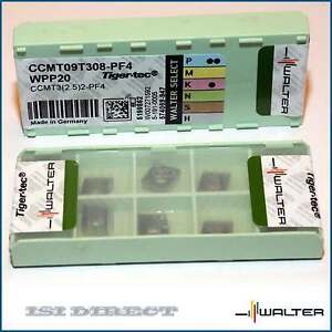 Ccmt 32 52 09t308 Pf4 Wpp20 Walter 10 Inserts Factory Pack