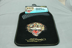 Ed Hardy Car Floor Mats Front Set Tiger 5533