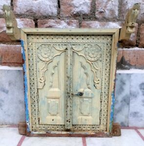Old Antique Wooden Hand Carved Window Door Frame