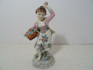 Dresden Figurine Antique Vintage Sitzendorf Dresden Porcelain Figure Germany