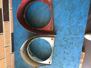 Vintage Pair Of 55 56 Mercury Cast Headlight Bezels Left And Right