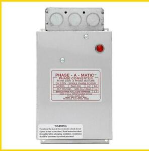 Pam 200 3 4 1 1 2 Hp 220 Vac Phase a matic Phase Converter