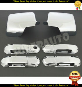 For 2006 2010 Ford Explorer Sport Trac Mountaineer Chrome Mirror 4 Door Handles
