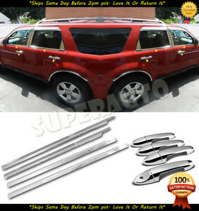 For 2008 2009 2010 2011 2012 Ford Escape Window Sills chrome Door Handle Covers