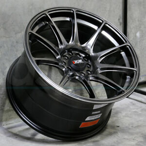 17x7 5 Chromium Black Wheels Xxr 527 4x100 4x114 3 40 Set Of 4
