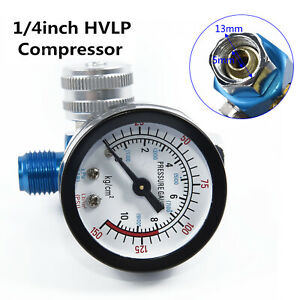1x Hvlp Spray Paint Tool Air Regulator W Pressure Gauge Digital Compressor Part